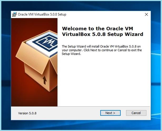 показан на примере VirtualBox