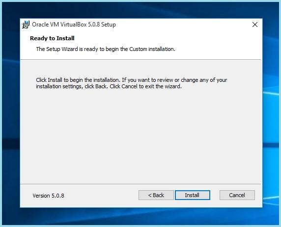 Установка виртуальной машины на Windows 10