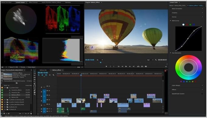 Программа для видеомонтажа Adobe Premiere Pro