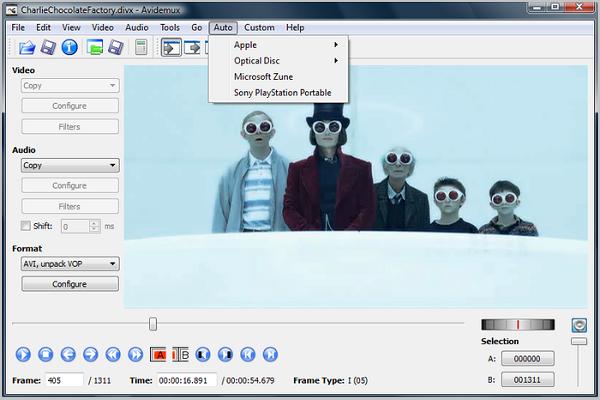 Программа для видеомонтажа avidemux