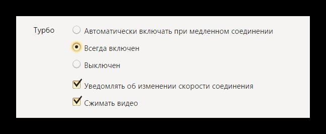 Turbo Yandex
