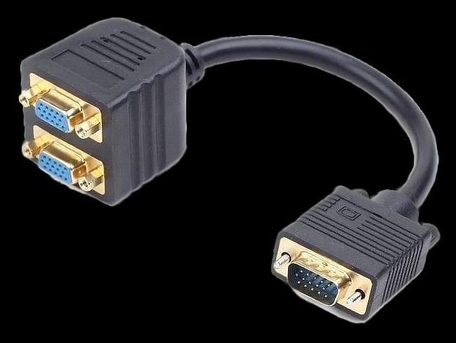 Сплиттер VGA для подключения двух мониторов