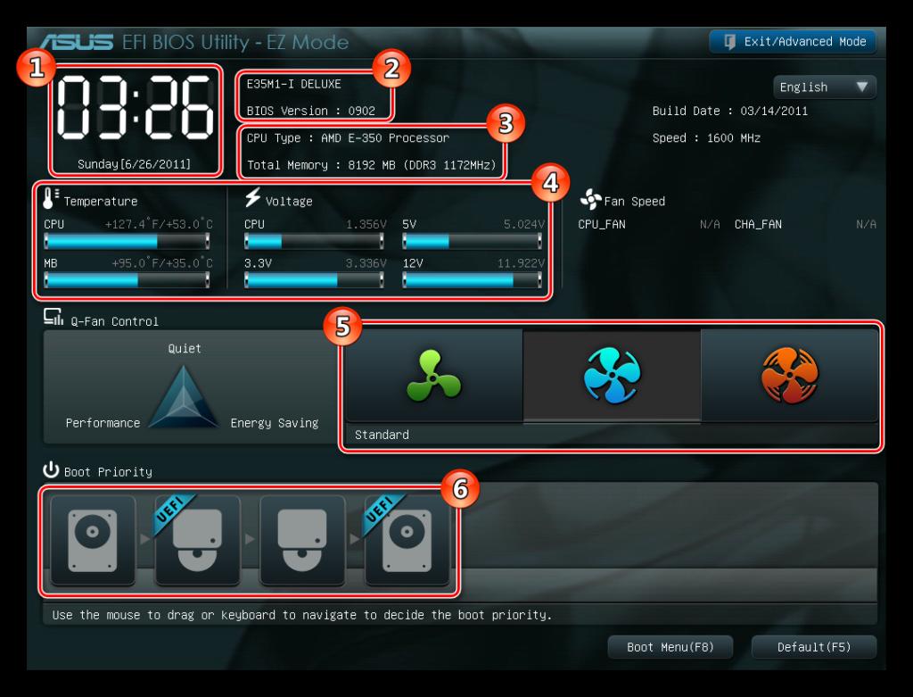 EFI Start screen
